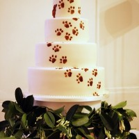 Dachsund Wedding Cake